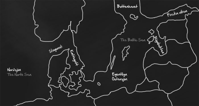 Karta för utställning, Sjöfartsmuseet