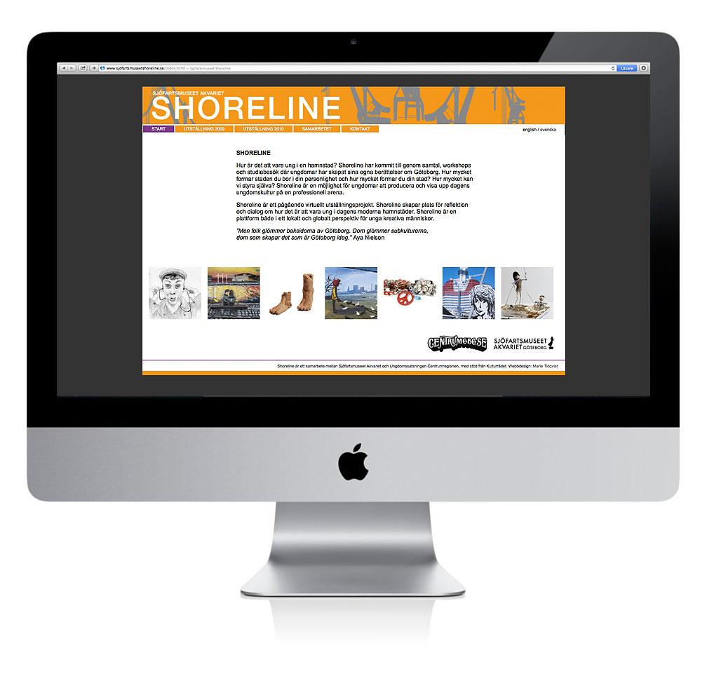 Utsällning på webben, Shoreline