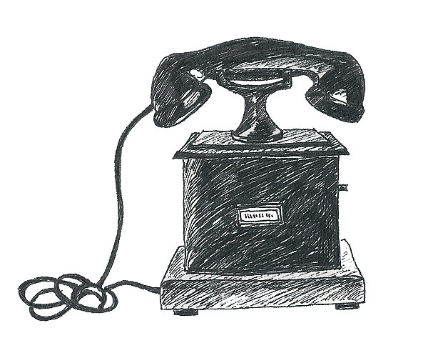 telefon, illustration