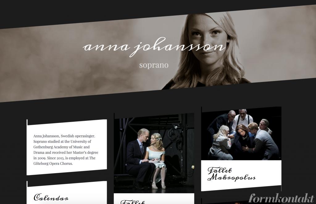 Anna Johansson, cool hemsida