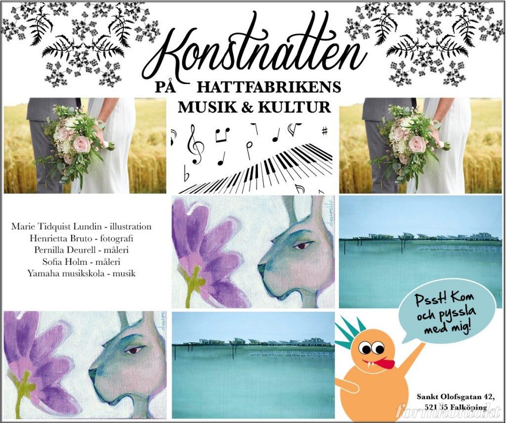Konstnatten på Hattfabrikens musik& kultur