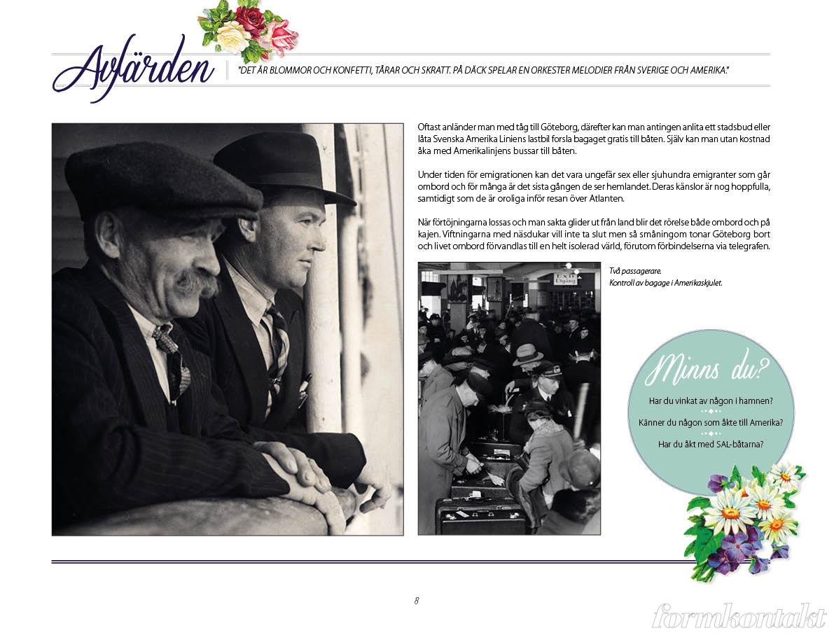 Bokformgivare, Svenska Amerika Linien, bok för äldreboende