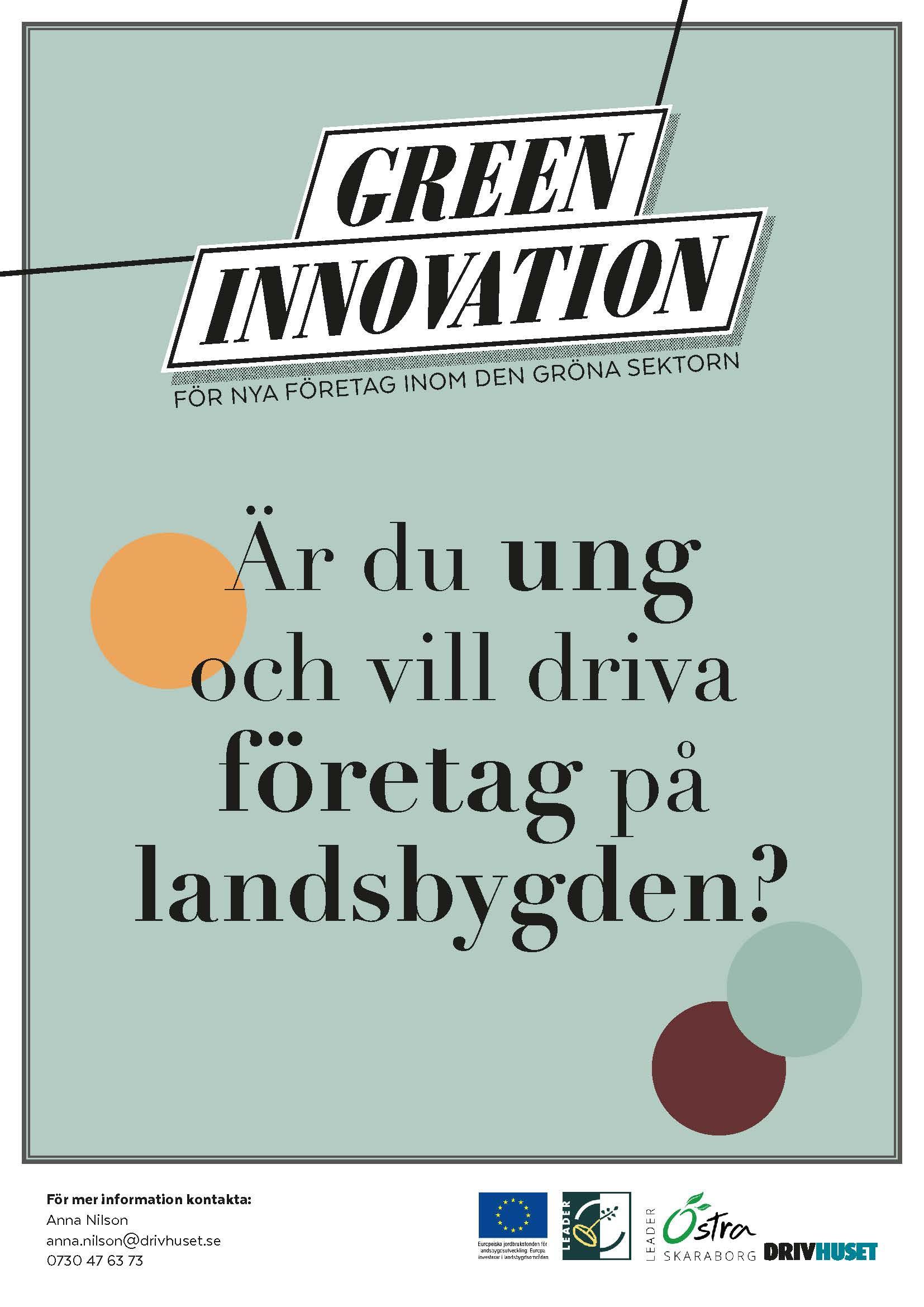 green innovation, logotype och grafisk profil till EU-projekt
