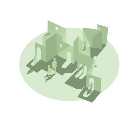 Illustration för Göteborgs Konstmuseum, illustration inför ombyggnation