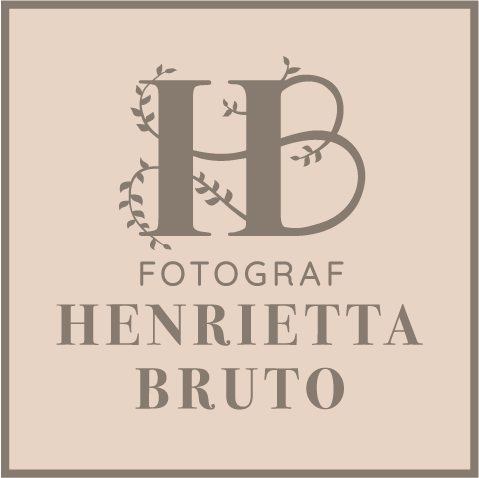logotype för fotograf. Henrietta Bruto, logga, Falköping