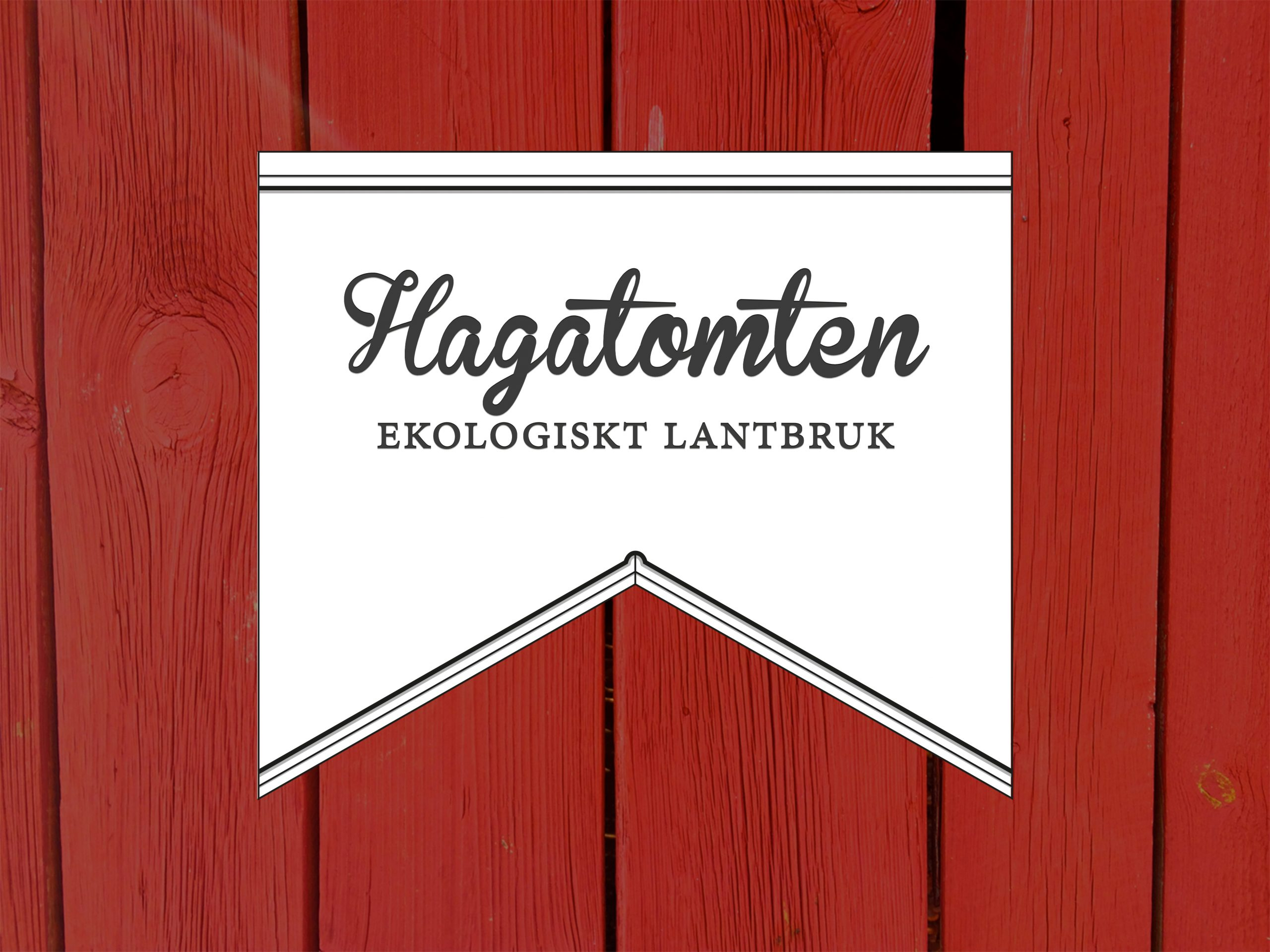 Logotype till ekologiskt lantbruk, hagatomten ekologiskt lantbruk