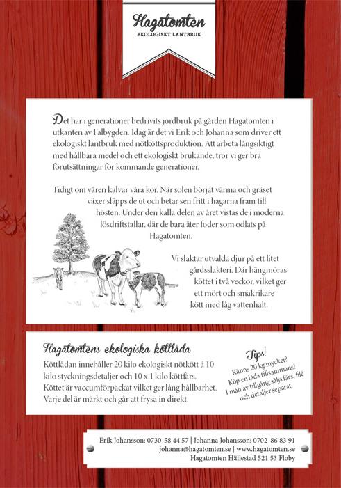 Produktblad för Hagatomten ekologiska lantbruk