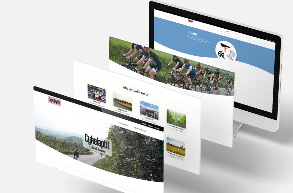 animera en hemsida, mock-up animerad hemsida, hemsida för cykelaptit