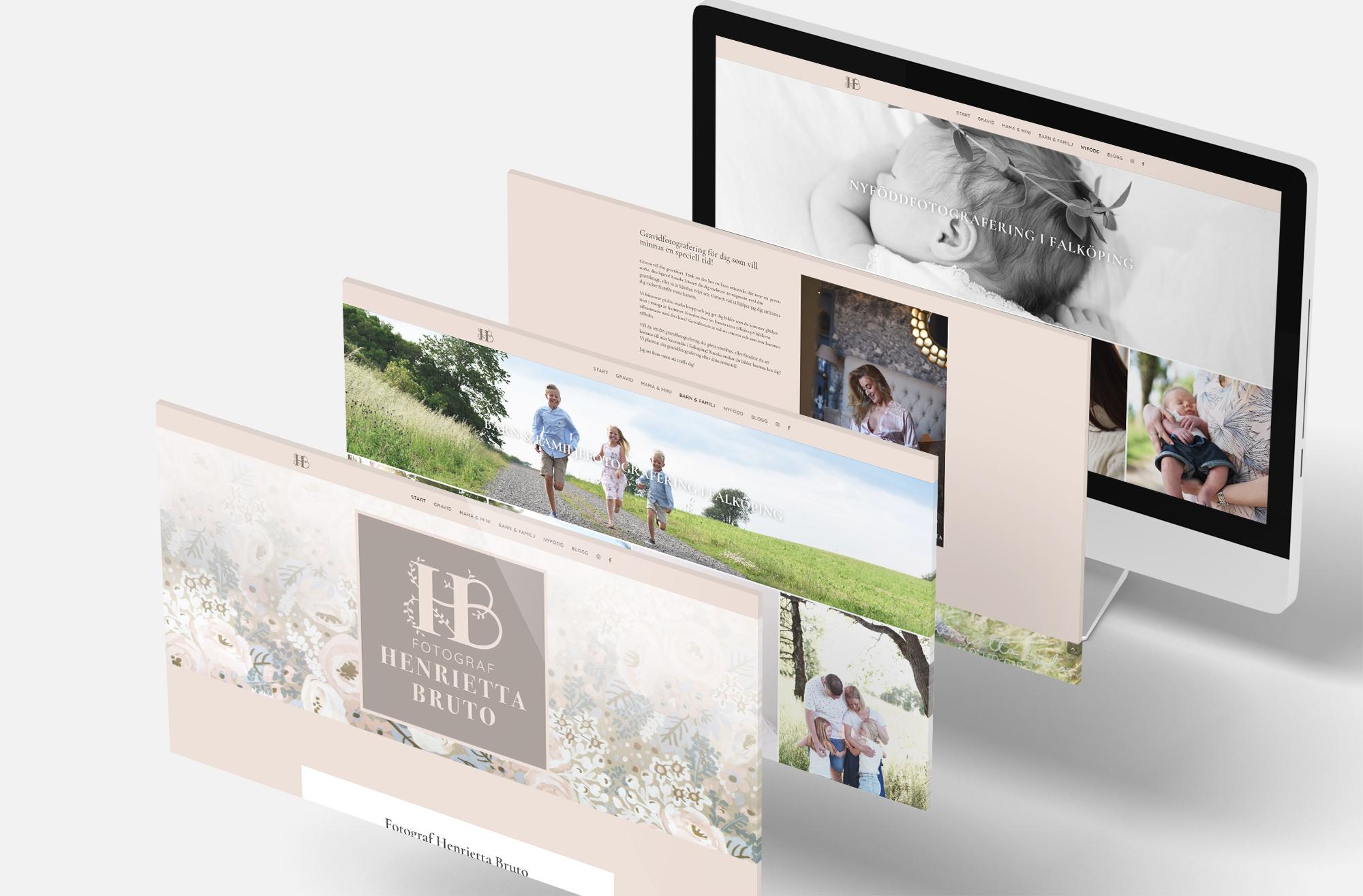 Ny hemsida för Henrietta Bruto, Hemsida Falköping, Webbsida Skaraborg