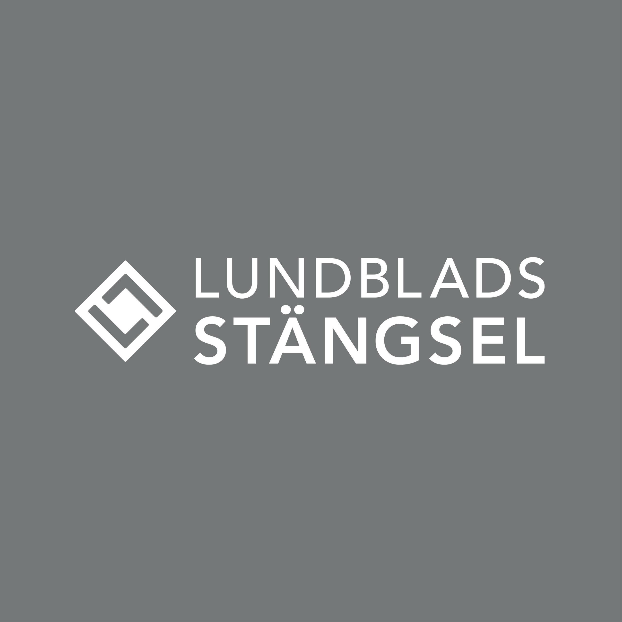 Logotype för Lundblads stängsel, logotype Falköping, Logotype Skaraborg